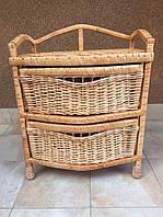 Комод плетеный из лозы Овал на 2 ящика