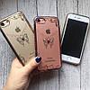 Силиконовый чехол с узорами и стразами для iPhone 7, фото 3
