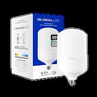 Светодиодная лампа GLOBAL (MAXUS), 50W, 6500К, холодного свечения, цоколь - Е27, 1 год гарантии!