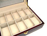 Шкатулка для хранения часов деревянная на 10 ячеек Rothenschild, фото 5