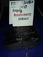 Колодки  передние Ford  Fiesta  2008  >  LEADERPARTS  GDB3437
