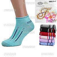 Женские короткие носки BFL E070. В упаковке 12 пар