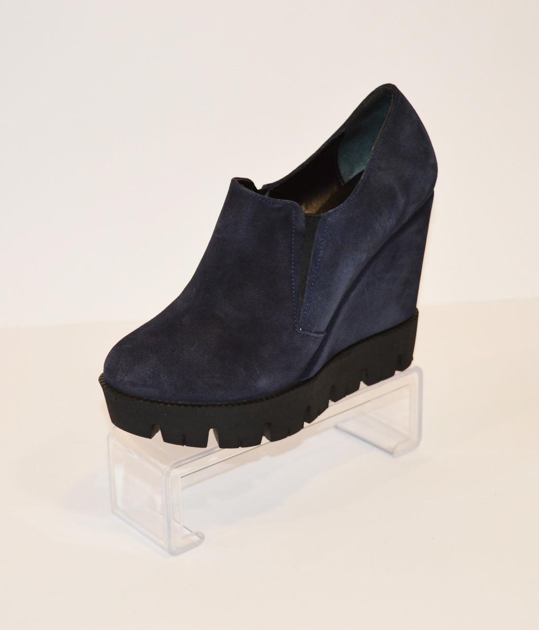 Женские синие ботинки Guero 3518