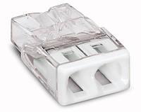 Соединитель WAGO COMPACT PUSH WIRE® для распределительных коробок, 2-проводная клемма