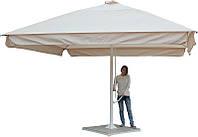 Зонт для площадок, кафе, ресторанов квадрат 4 на 4 метра