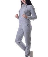 Велюровый спортивный костюм с капюшоном