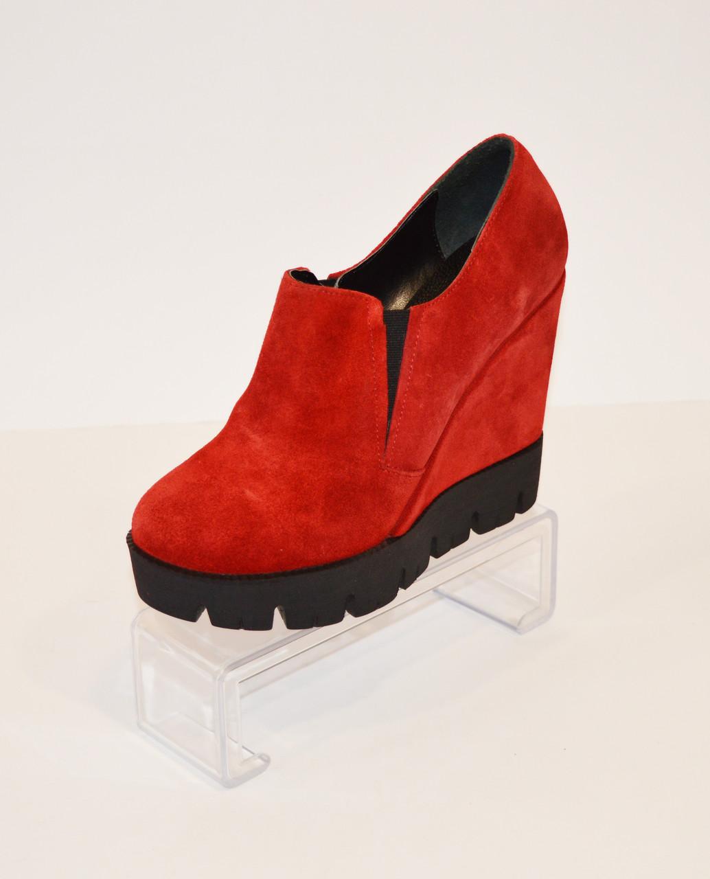 Женские красные ботинки Guero 3518