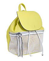 553967 Сумка-рюкзак, жовто-біла, 31*28*17
