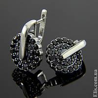 Женские серебряные Серьги Карусель