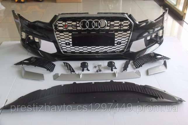 Передний бампер на Audi A6 C7 (2012-...)
