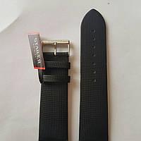Кожаный ремень для часов Stailer-черный гладкий изготовлен из сатина с нубуковой подкладкой без прошивки