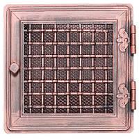 Вентиляционная решетка для камина Parkanex, Stylowa - медная патина 21х21 с жалюзи