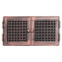 Вентиляционная решетка для камина Parkanex, Stylowa - медная патина 21х43