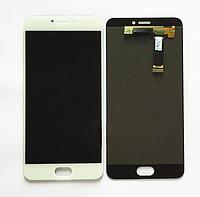 Оригинальный дисплей (модуль) + тачскрин (сенсор) для Meizu MX6 (белый цвет)