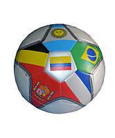 Мяч футбольный клубный звезда с флагами стран №5