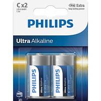 Батарейка Ultra Alkaline C Philips, 1 шт