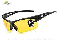 Очки велосипедные Robesbon спортивные желтые велоочки LW