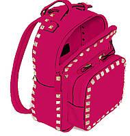 554102 Сумка-рюкзак, рожева, 26*9*9