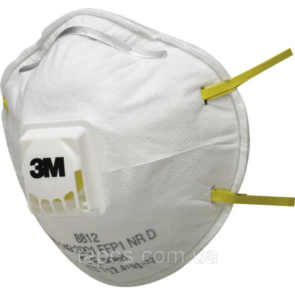 Респиратор 3М 8812 с клапаном FFP1 от токсической пыли