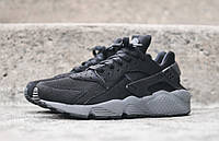 Кроссовки мужские Nike air huarache grey and black. найк хуарачи, найк аир