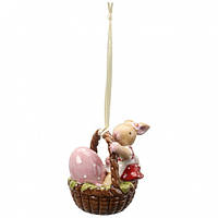 Villeroy & Boch  Spring Decoration Ornament basket with bunny girl 6cm  декорація