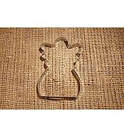 Каттер металл для имбирных пряников Ангелочек