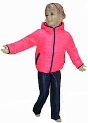 Костюм дитячий демісезонний рожевого кольору