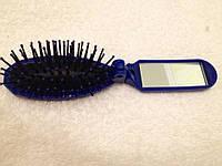 Маленькая расчёска с зеркалом складная ручка 853 В, фото 1