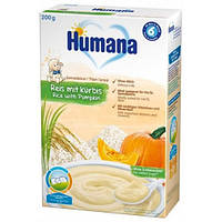 Каша безмолочная рисовая с тыквой Humana 200 г