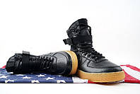 Кроссовки женские Nike Air Force SF1 Black. кроссовки найк аир форс, магазин обуви