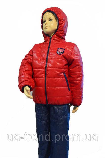Подростковый костюм для мальчика с капюшоном красного цвета