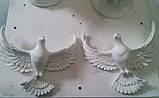 Декор для памятника Голубь полимер 16*14*8 см, фото 3