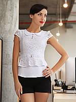 Блуза с гипюровыми вставками