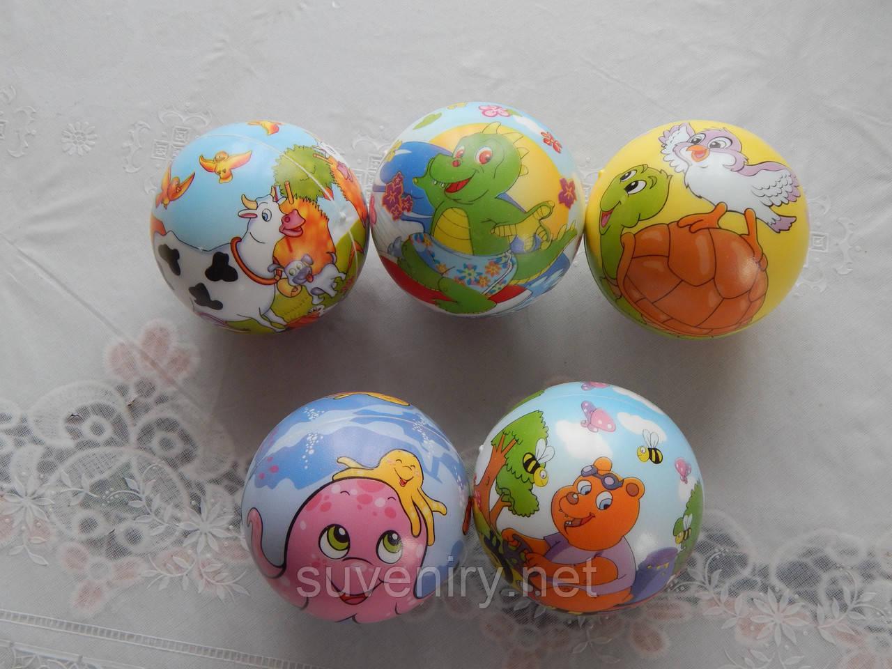 Детские мягкие мячики с мультяшками