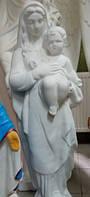 Скульптура на могилу Матерь Божья.Скульптура Мадонна с младенцем из бетона 110 см, фото 1