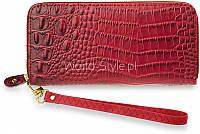 Темный красный женский кошелек на молнии Katrain