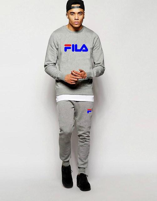 Трикотажный спортивный костюм FILA Фила серый (большой принт) купить ... 70049ff4b68ea