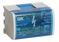 Шина «N» нулевая на DIN-рейку в корпусе 2x7 групп, IEK (YND10-2-07-100)