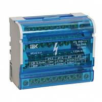 Шина «N» нулевая на DIN-рейку в корпусе 4x11 групп, IEK (YND10-4-11-125)