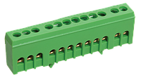 Шина нулевая в корпусном изоляторе на DIN-рейку ШНИ-6х9-10-К-З, IEK (YNN10-69-10KD-K06)