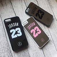 Пластиковый зеркальный чехол Jordan для iPhone 5/5s/se