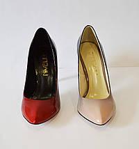 Женские туфли омбре красные Nivelle 1494, фото 3