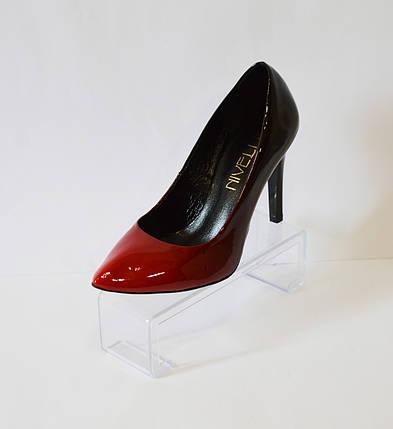 Женские туфли омбре красные Nivelle 1494, фото 2