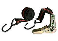 Ремень багажный с крюками, 5 м, храповой механизм