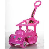Детская машинка каталка толокар Bambi M 3274-1-8 музыка родительская ручка колесо 360градусов