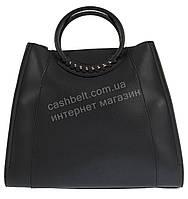 Стильная вместительная женская сумочка с косметичкой в комплекте art. 871 черная