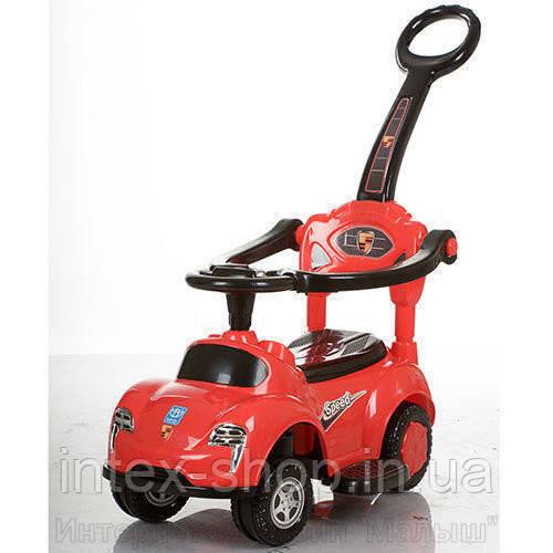 Детская машинка каталка толокар Bambi M 3274-2-3 музыка родительская ручка колесо 360градусов