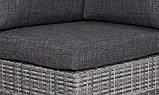 Комплект плетеный BRILLANTE   GREY диван 250см   +2 кресла+ столик, фото 3