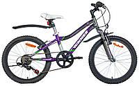 """Велосипед WINNER PUMA 20"""", рама 11, серо-фиолетовый"""
