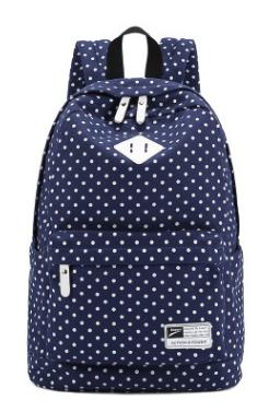 Школьный рюкзак в горох
